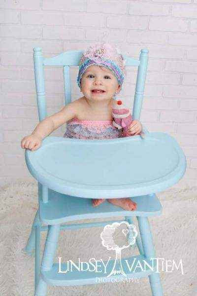 Pink & Aqua Baby Girl Lace Ruffle Petti Romper