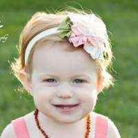 Heirloom Flower Antique Style Child and Baby Headband