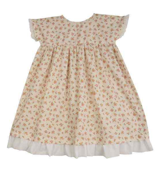 2bc0bbb85db3a Antique Style Little Girls Floral Made in USA Dress - Lemonade Couture