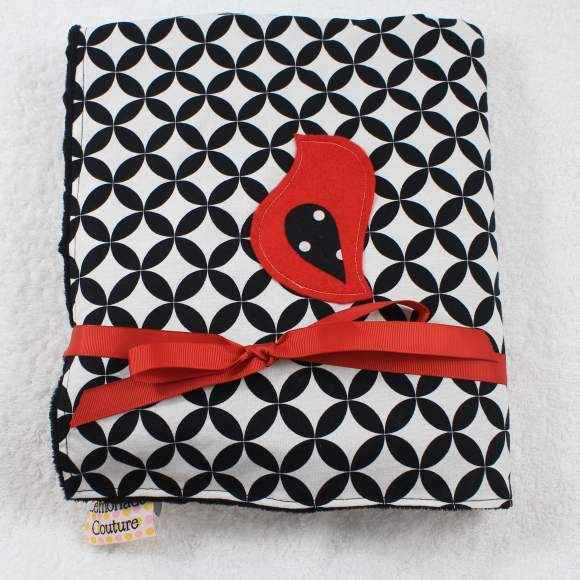 Bird Minky Baby Stroller Blanket (American Made) (Available Personalized)