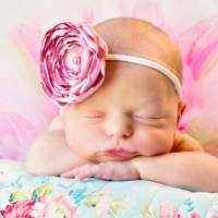 Lexie Baby and Girls Pink Satin Flower Headband