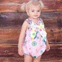 Allegria Sleeveless Baby Girl Bow Romper