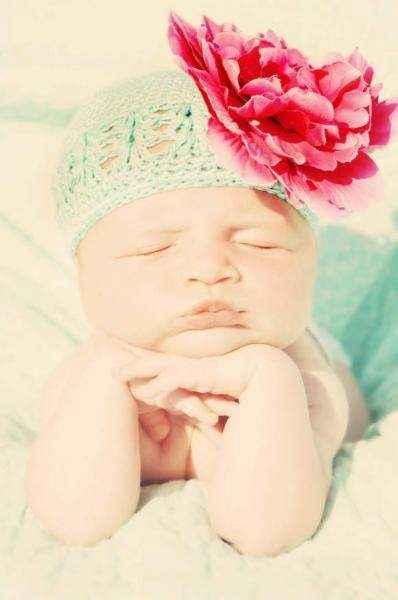 Peony Newborn Baby Girl Flower Hat