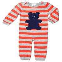 Navy Bear Striped Knit Layette - ONLY THREE LEFT!