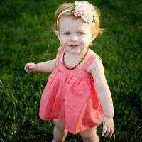 Coral Pindot Sleeveless Baby Girl Bubble Dress