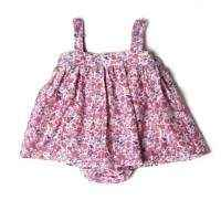 Pink Floral Silk Cotton Bubble Dress - ONLY THREE LEFT!