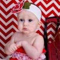Designer Blossom Baby Girl Polka Dot Flower Headband (American Made)