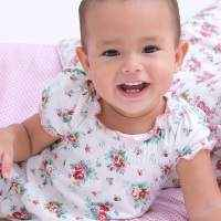 Hannah Short Sleeve Floral Baby Girl Romper & One Piece Pajamas