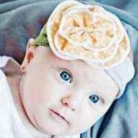 Sunshine Baby Girl Polka Dot Flower Headband (American Made)