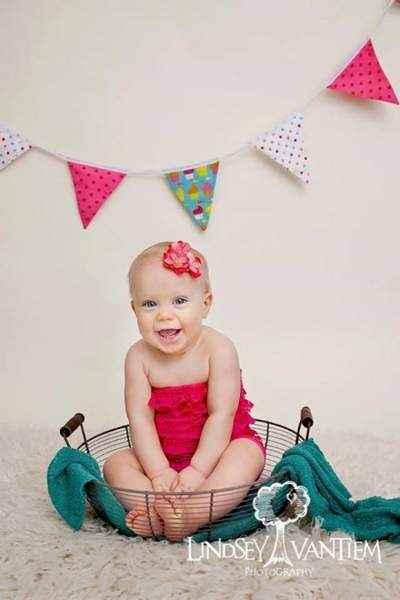 Hot Pink Baby Girl Lace Ruffle Petti Romper