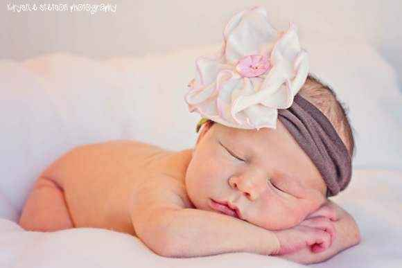Sweet Magnolia Baby Girl Flower Headband (American Made)