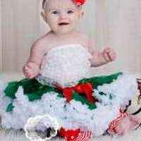 Christmas Green Holiday Chiffon Baby Girl Boutique Pettiskirt
