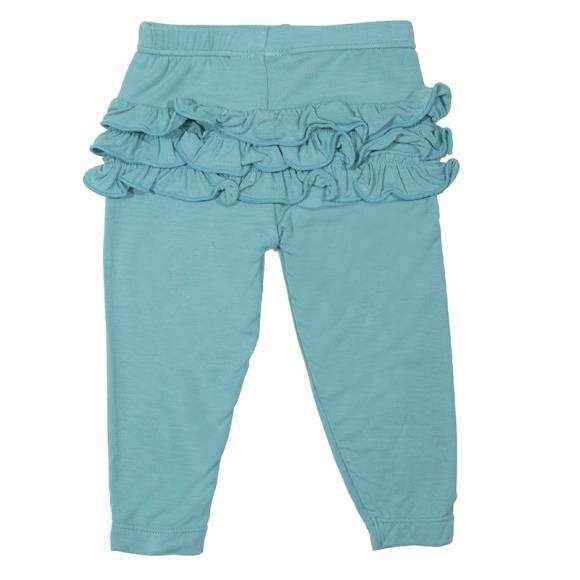 Glacier Baby Girl Super Soft Ruffle Leggings (Organic Bamboo)