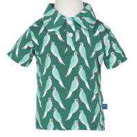 Parrot Print Bamboo Kids Short-Sleeved Polo Shirt