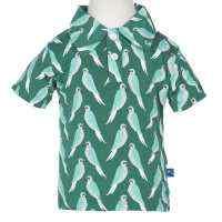 Parrot Print Short Sleeve Boys Polo Shirt (Organic Bamboo)