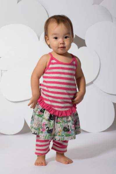 Swan Print Baby and Toddler Girls Twirl Skirt (Organic Cotton)