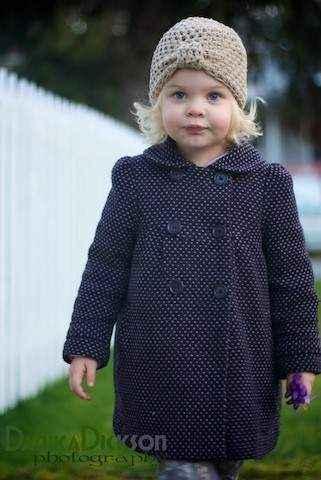Oatmeal Baby & Girls Cloche Hat