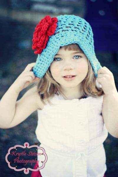 Blue Joy Baby Girl Hat