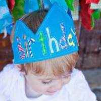 Birthday Boy Blue Baby & Boys Crown (American Made) - ONLY ONE LEFT!