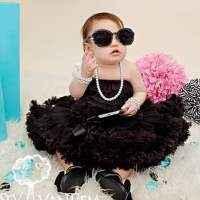 Black Chiffon Baby & Girls Boutique Pettiskirt