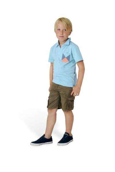 Color Block Short Sleeve Baby and Boys Polo Shirt