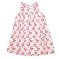 Pink Chicken Sleeveless Girls Dress