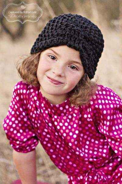 Black Baby and Toddler Girls Cloche Hat