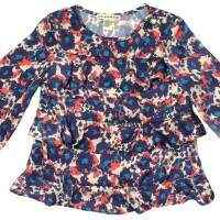 Ruffle Long Sleeve Baby & Little Girls Blouse (American Made)