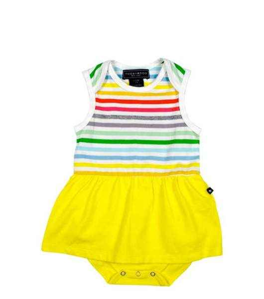 Rainbow Sleeveless Striped Baby Girl Sundress