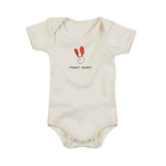 Honey Bunny Short Sleeve Baby Bodysuit (Organic Cotton)