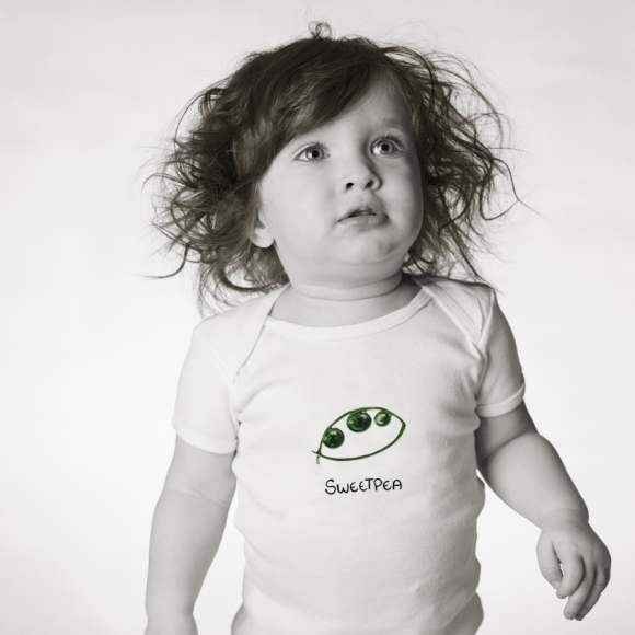Sweetpea Short Sleeve Baby Bodysuit (Organic Cotton)