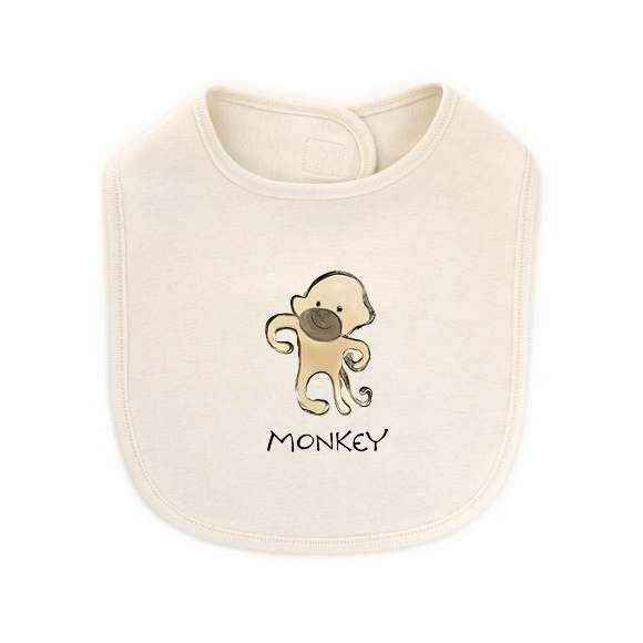 Monkey Baby Bib (Organic Cotton)