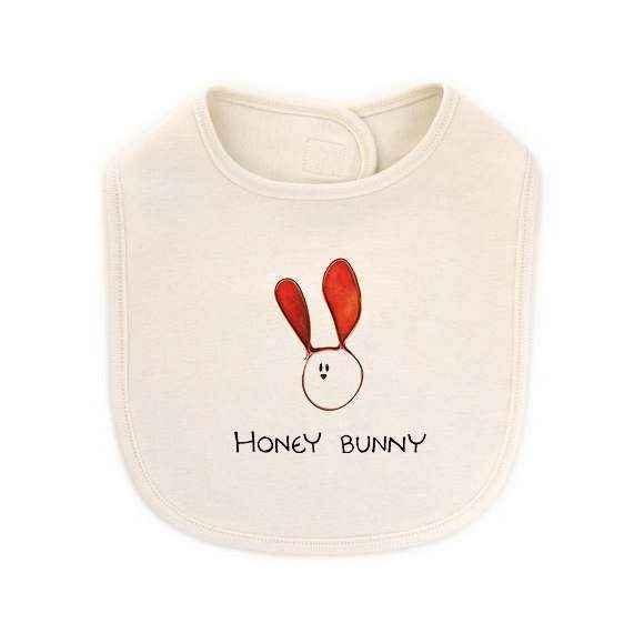 Honey Bunny Baby Nickname Baby Girl and Boy Bib (Organic Cotton)