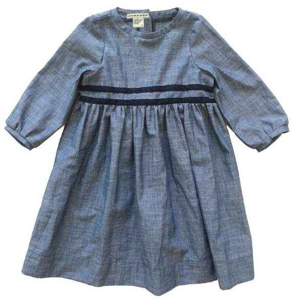 French Party Long Sleeve Little Girls Boutique Dress (American Made)