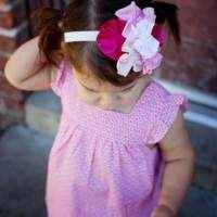 Pink Ruffle Sleeve Baby & Girls Dress
