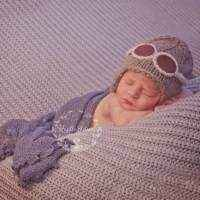 Aviator Baby and Kids Knit Hat