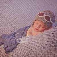 Aviator Baby & Kids Knit Hat