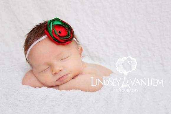 Christmas Baby Girl Holiday Headband (American Made)