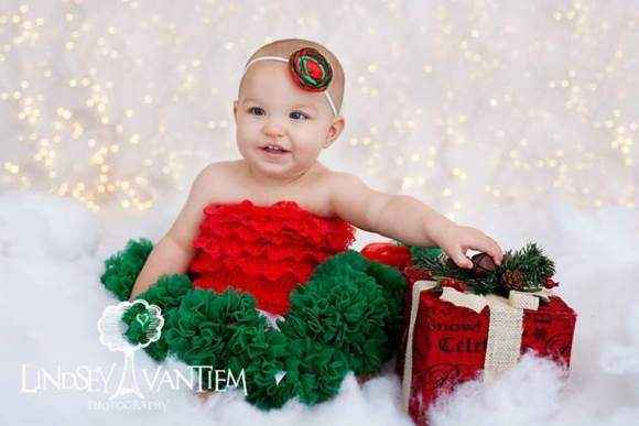 Christmas Girls Red and Green Holiday Headband (American Made)