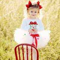 White Christmas Holiday Tulle Baby & Girls Boutique Tutu (American Made)