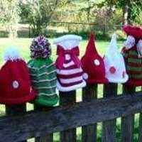 One of a Kind Christmas Knit Baby and Children's Boutique Hat - each hat sold individually - ONLY TWO LEFT!