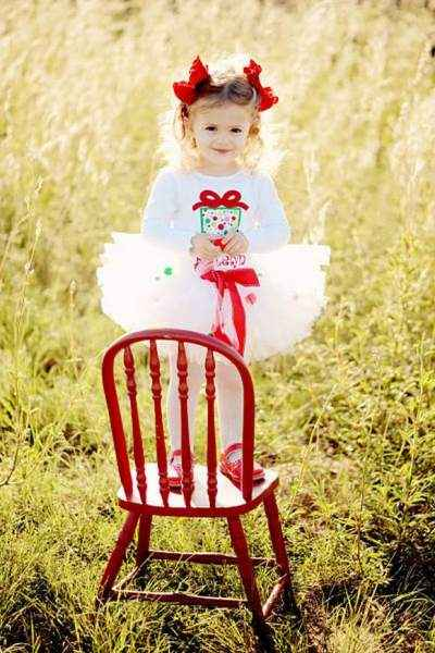 White Christmas Holiday Tulle Baby and Girls Boutique Tutu (American Made)