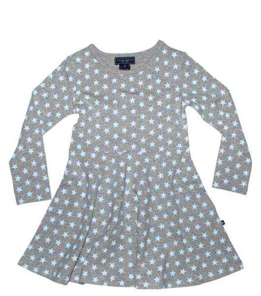 Blue Star Long Sleeve Big Girls Dress