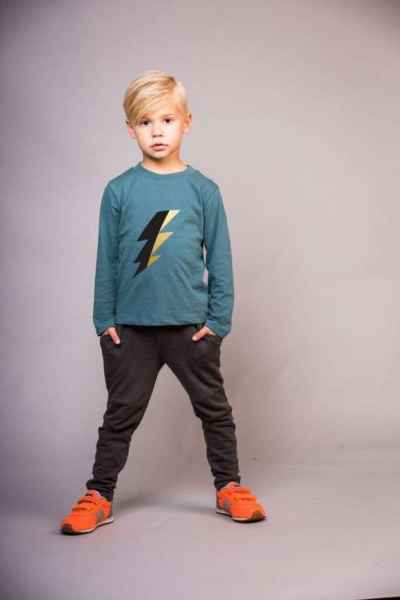 Bolt Long Sleeve Trendy Modern Boys Tee (American Made)