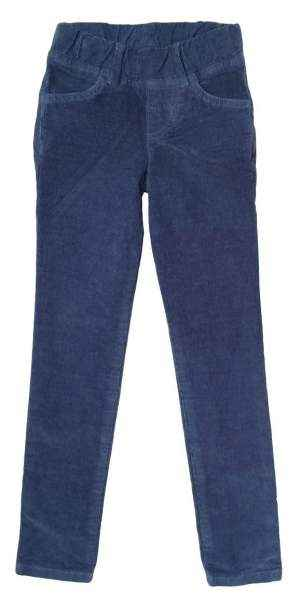Navy Baby and Little Girls Modern Corduroy Pants (American Made)