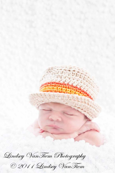 Orange Stripe Grandpa Hall Baby and Boys Hat (American Made)