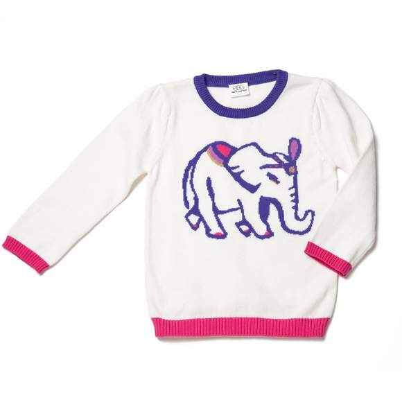 Elephant Baby Girl Sweater