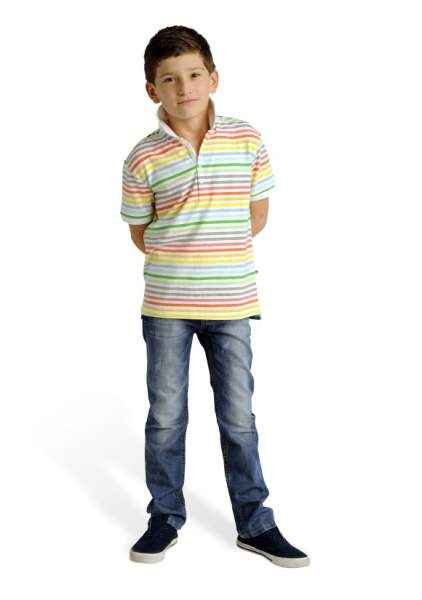 Ace Striped Short Sleeve Big Boys Polo Shirt