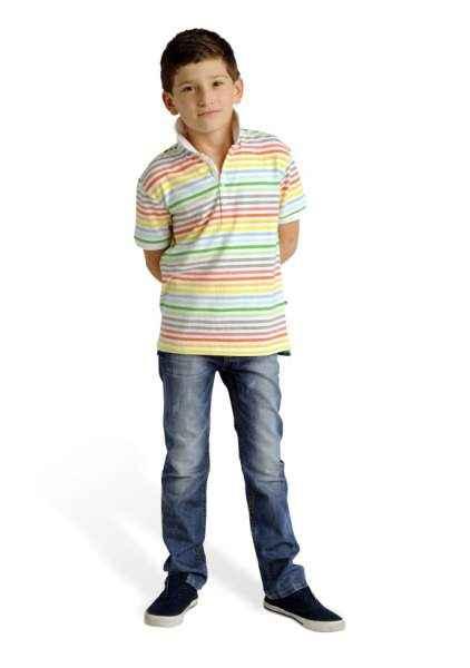 Ace Striped Short Sleeve Big Boys Polo Shirt