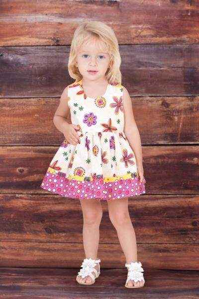 Sleeveless Verbena Dress Baby Girl Bloomer Romper